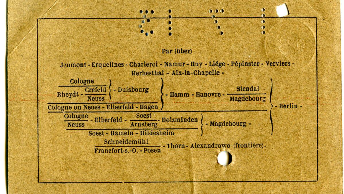 Polya's Train Ticket Paris to Alexandrowo 1913 p02