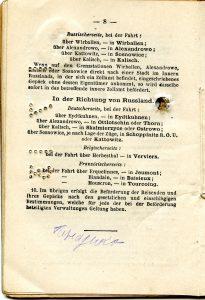 Polya's Train Ticket Paris to Alexandrowo 1913 p22