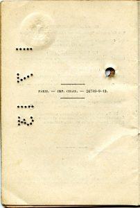 Polya's Train Ticket Paris to Alexandrowo 1913 p28