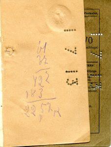 Polya's Train Ticket Paris to Alexandrowo 1913 p31
