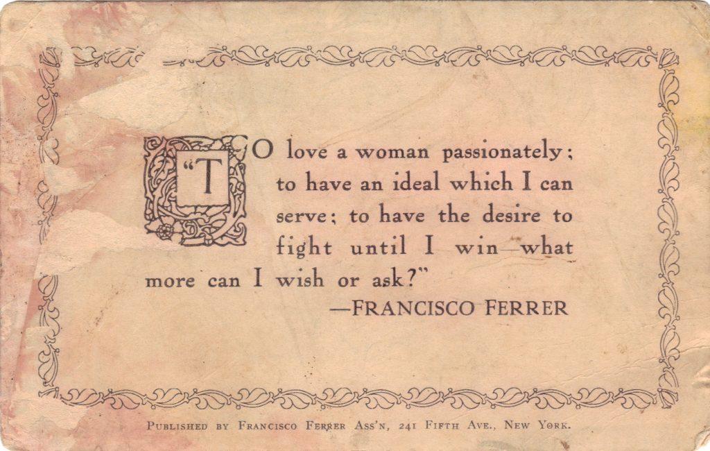 Postcard from George Ehrlich July 5, 1917 A